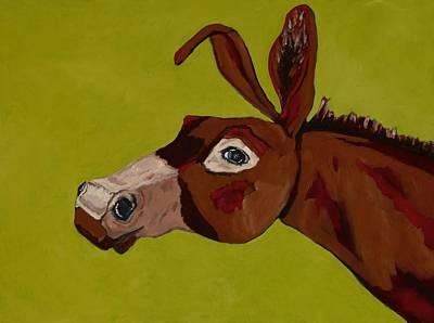 Jackass Painting - Marlene The Mule by Randine Dodson