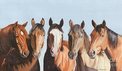 Sorrel Horse Painting - Marlene's Girls by Tina  Sander