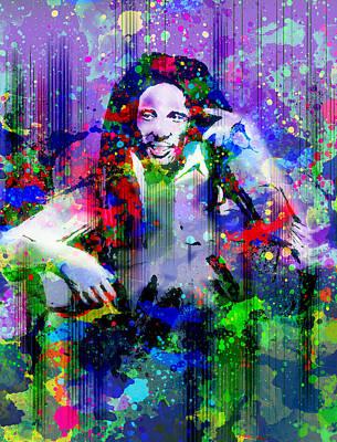 Bob Marley Abstract Painting - Marley 11 by Bekim Art