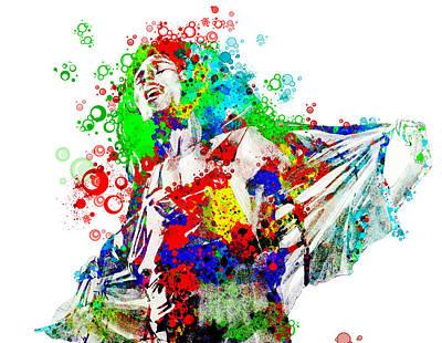 Bob Marley Abstract Painting - Marley 5 by Bekim Art