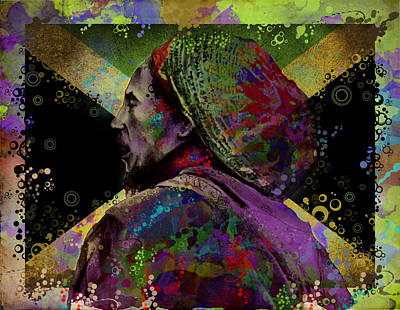 Jamaican Digital Art - Marley 9 by Bekim Art