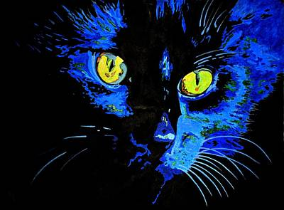 Painting - Marley At Midnight by Tracey Harrington-Simpson