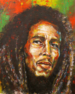 Bob Marley Artwork Painting - Marley by Cornelius Carter