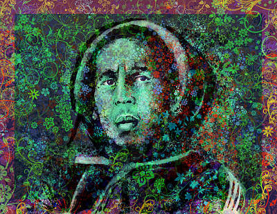 Marley Floral Version 2 Art Print
