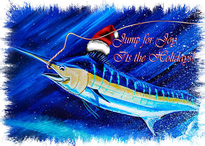 Digital Art - Marlin Card by Steve Ozment