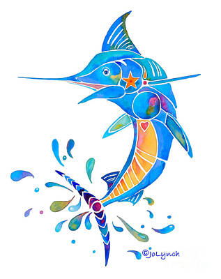 Painting - Marlin Dance Of Color by Jo Lynch