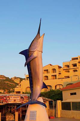 Marlin Statue, Marina, Cabo San Lucas Art Print