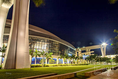 Photograph - Marlins Ballpark Stadium Miami by Rene Triay Photography