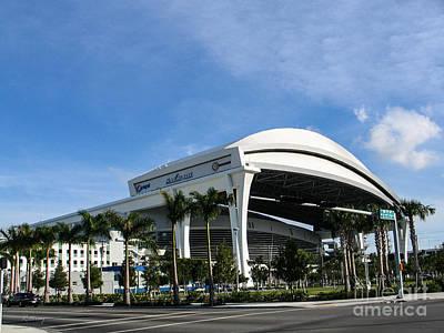 Marlins Park Stadium Miami 16 Art Print by Rene Triay Photography