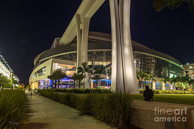 Marlins Park Stadium Miami 3 Art Print by Rene Triay Photography
