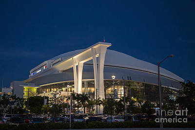 Photograph - Marlins Park Stadium Miami by Rene Triay Photography