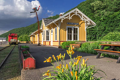 Photograph - Marlinton Train Depot by Mary Almond