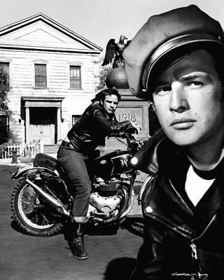 Digital Art - Marlon Brando In The Film The Wild One by Gabriel T Toro