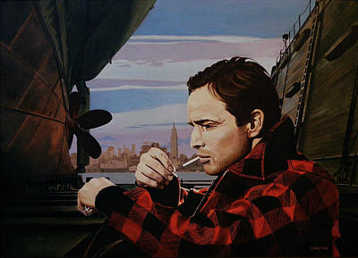 Painting - Marlon Brando - On The Waterfront by Jo King