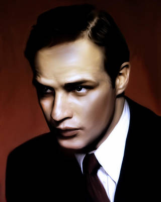 Painting - Marlon Brando Tribute by Georgiana Romanovna