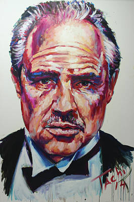 Famous People Painting - Marlon by Tachi Pintor