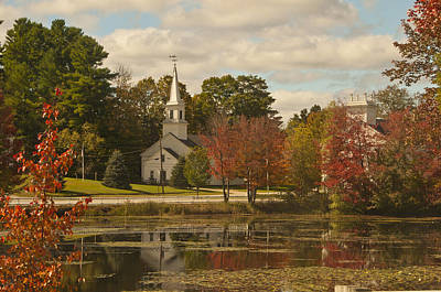 Photograph - Marlow Nh Pond by Paul Miller