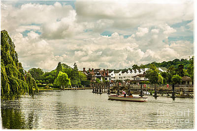 Vermeer Rights Managed Images - Marlow Weir as seen from Marlow Suspension Bridge  Royalty-Free Image by Lenny Carter