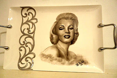 Painting - Marlyn Monroe Tray by Patricia Rachidi