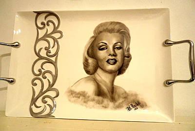 Painting - Marlyn Monroe Tray by Patricia Rachidi