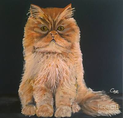 Painting - Marmalade Cat by Caroline Peacock
