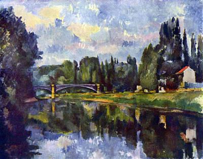 Marne Shore By Cezanne Art Print