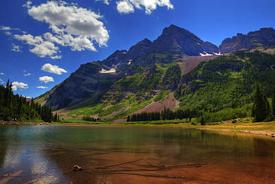 Art Print featuring the photograph Maroon Bells by Alan Vance Ley