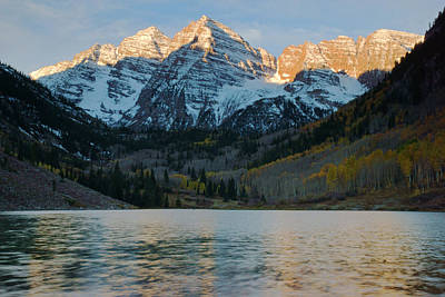 Photograph - Maroon Bells At Dawn by Daniel Woodrum