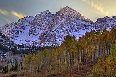 Photograph - Maroon Bells Autunm Afternoon by Alan Vance Ley