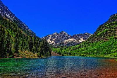 Maroon Bells Colorado In Summer Original