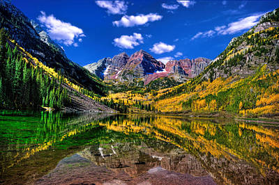 Photograph - Maroon Bells Fall Colors by Ken Smith