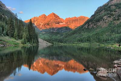 Photograph - Maroon Bells Glow by Adam Jewell