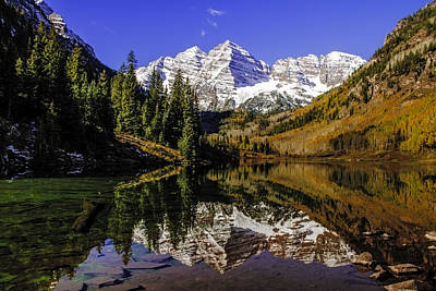 Photograph - Maroon Bells In Aspen Colorado by Teri Virbickis