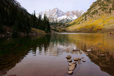 Photograph - Maroon Bells In Autumn by Daniel Woodrum