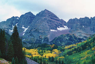 Maroon Bells In Fall Art Print by Adventure photo