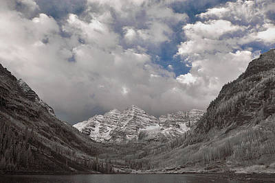 Photograph - Maroon Bells In Infrared by Erika Fawcett