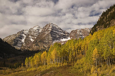Photograph - Maroon Bells In The Fall 1 by Lee Kirchhevel