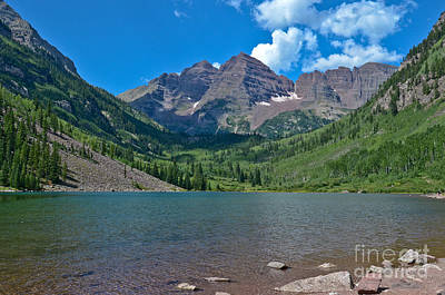 Photograph - Maroon Bells by Jeff Loh