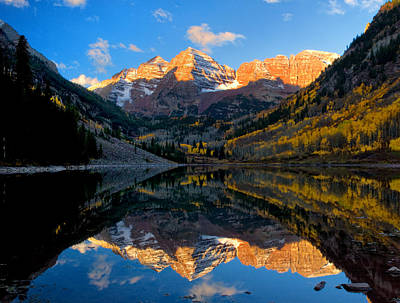 Maroon Bells Landscape Art Print by Ronda Kimbrow