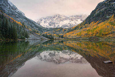 Photograph - Maroon Bells by Morris  McClung