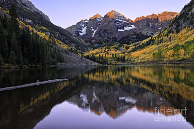 Maroon Bells Reflection Art Print