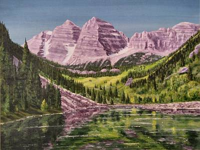 Painting - Maroon Bells Revisited by Dana Carroll
