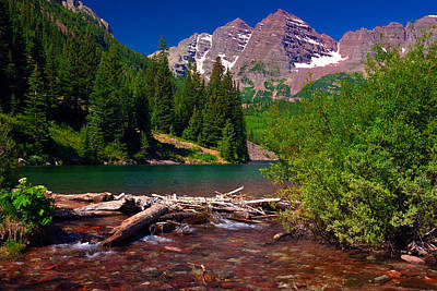 Classic Christmas Movies Royalty Free Images - Maroon Bells Summer 2012 Royalty-Free Image by John Hoffman