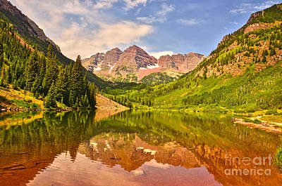 Photograph - Maroon Bells Summer by Kelly Black