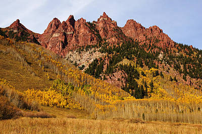 Photograph - Maroon Bells Wilderness In Autumn No.5 by Daniel Woodrum