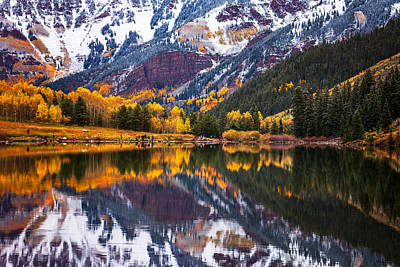 Photograph - Maroon Lake Backside by Darren  White