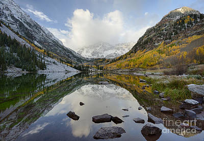 Photograph - Maroon Reflections by Idaho Scenic Images Linda Lantzy