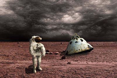 Outer Space Mixed Media - Marooned No.3h by Marc Ward