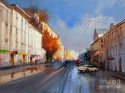 Moscow Wall Art - Painting - Maroseyka.  by Alexey Shalaev
