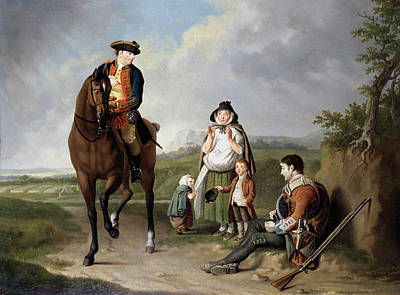 Roadside Painting - Marquess Of Granby Relieving A Sick by Edward Penny